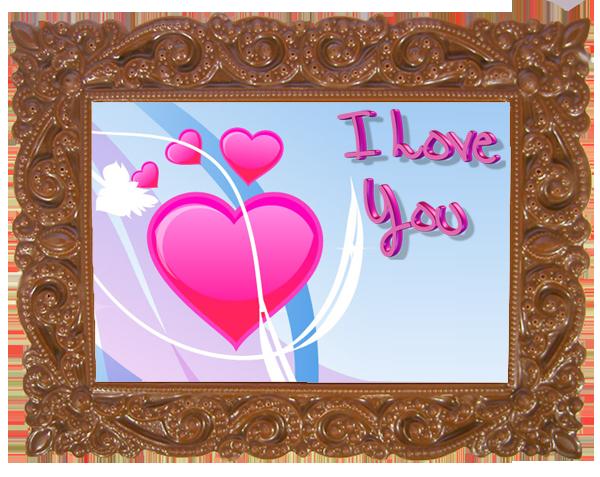 Printed Love Chocolate Frame VICTORIAN