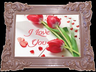Printed Love Chocolate Frame TRADITIONAL