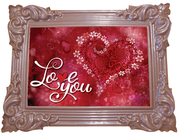 Printed Love Chocolate Frame TRADITIONAL
