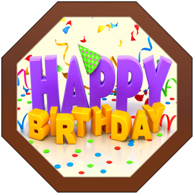 Printed Birthday Chocolate Octagonal Plaque