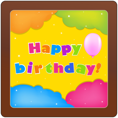 Printed Birthday Chocolate Square Plaque