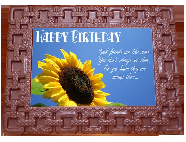 Printed Birthday Chocolate Large Frame SQUARES