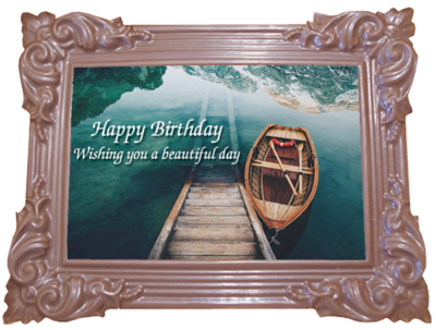 Printed Birthday Chocolate Large Frame TRADITIONAL