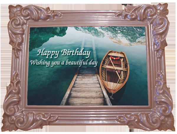Printed Birthday Chocolate Large Frame TRADITIONAL