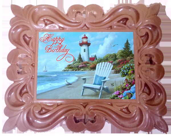 Printed Birthday Chocolate Large XL Frame CLASSIC