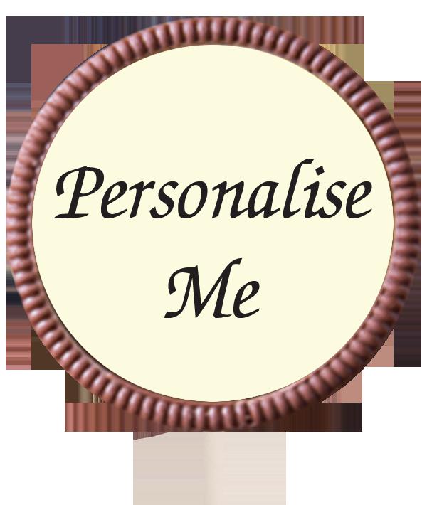 Large Personalised Belgian Chocolate Lollipop (Round)
