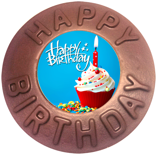 Printed Happy Birthday Chocolate Disc