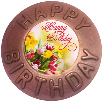 Printed Happy Birthday Chocolate Disc