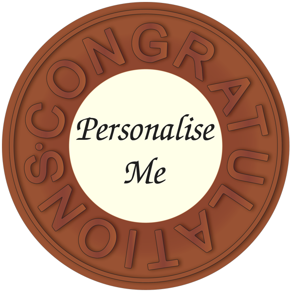 Personalised Printed Belgian Chocolate Congratulations Disc
