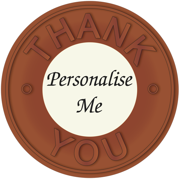 Personalised Printed Belgian Chocolate Thank You Disc