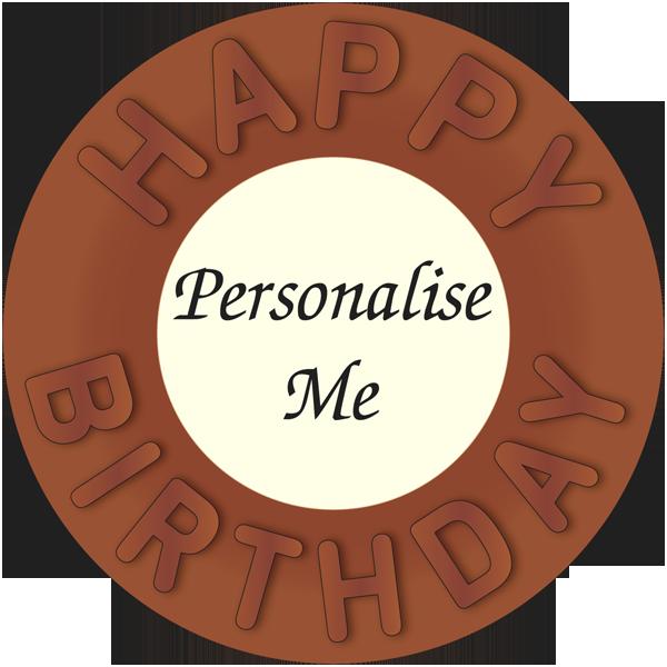 Personalised Belgian Chocolate Happy Birthday Disc
