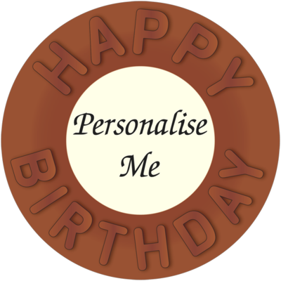 Personalised Belgian Chocolate Happy Birthday Disc