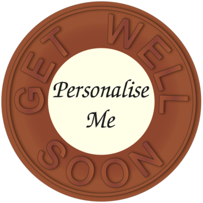 Personalised Printed Belgian Chocolate Get Well Disc
