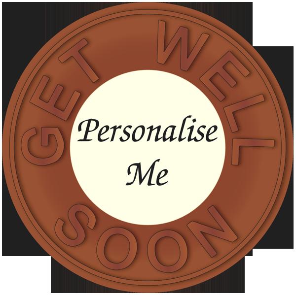 Personalised Printed Belgian Chocolate Get Well Disc
