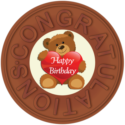 Printed Congratulations Birthday Chocolate Disc