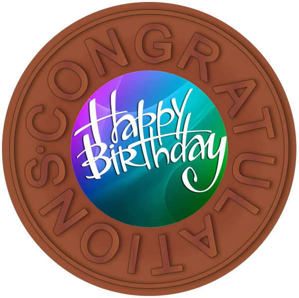 Printed Congratulations Birthday Chocolate Disc