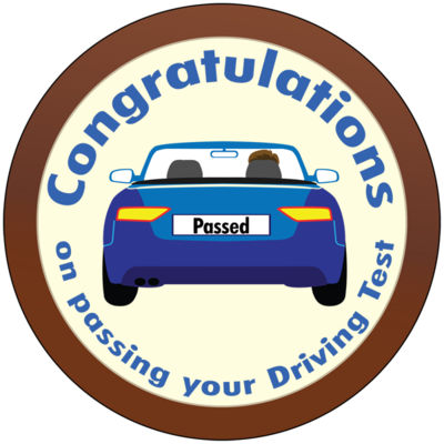 Round Plaque - Driving Test