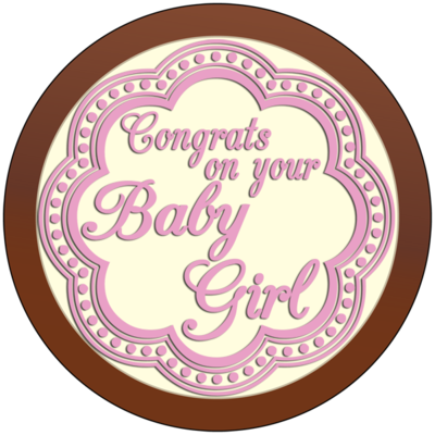 Round Plaque - Baby Girl