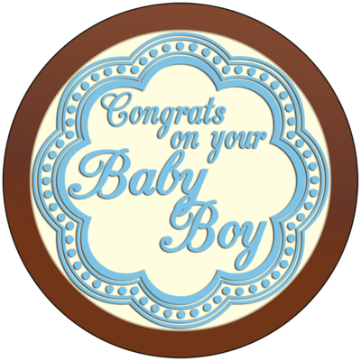 Round Plaque - Baby Boy