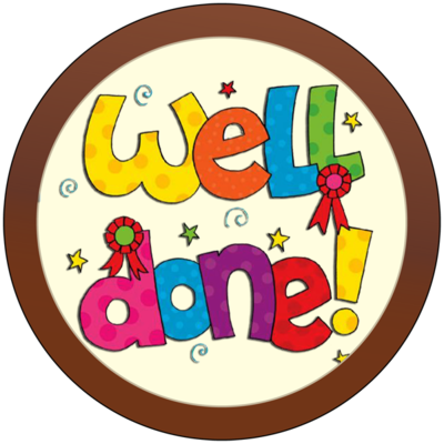 Round Plaque - Well Done