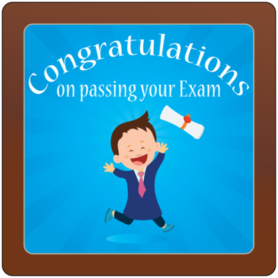 Square Plaque - Passing Exam