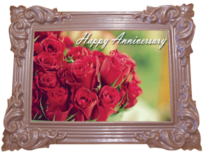Large Anniversary Printed Chocolate Frame TRADITIONAL
