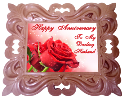 X Large Anniversary Printed Chocolate Frame CLASSIC - Husband