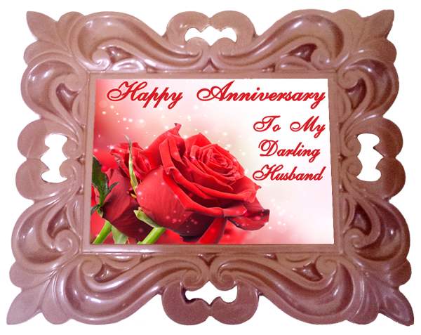 X Large Anniversary Printed Chocolate Frame CLASSIC - Husband