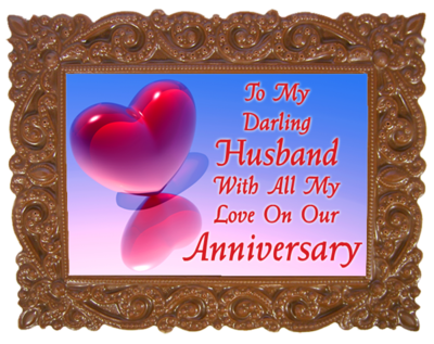 Small Anniversary Printed Chocolate Frame VICTORIAN - Husband