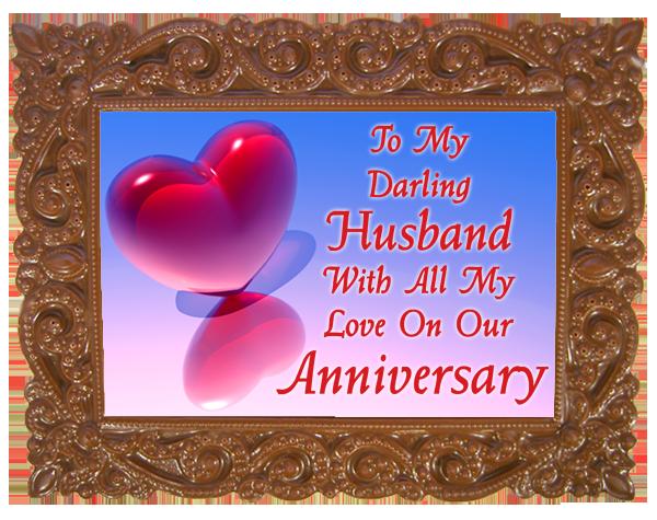 Small Anniversary Printed Chocolate Frame VICTORIAN - Husband