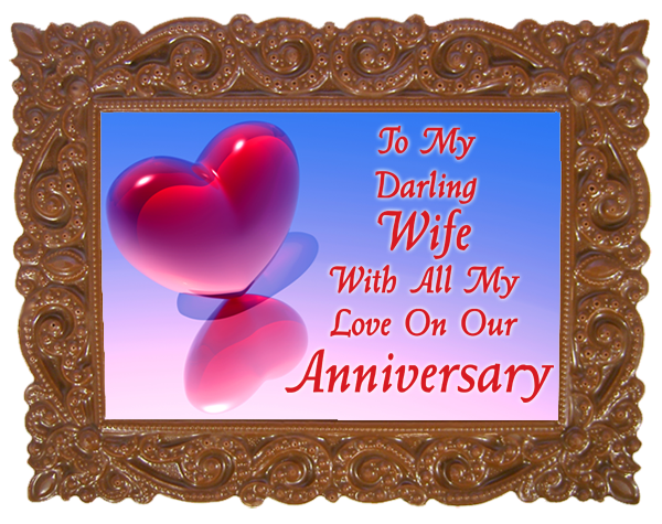 Small Anniversary Printed Chocolate Frame VICTORIAN - Wife