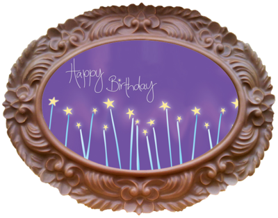 Printed Birthday Chocolate Large Frame OVAL