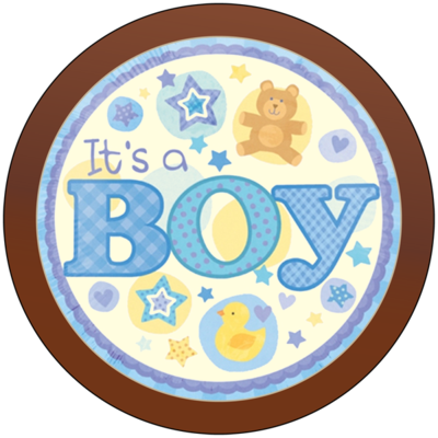 Round Plaque - It's a Boy