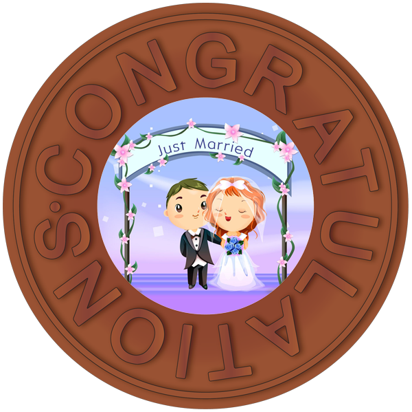 Congratulations - Just Married