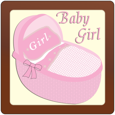 Square Plaque - Baby Girl