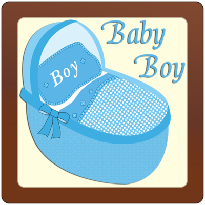 Square Plaque - Baby Boy