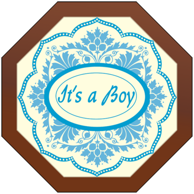 Octagonal Plaque - It's a Boy