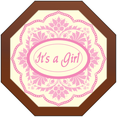 Octagonal Plaque - It's a Girl