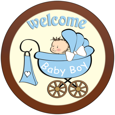 Round Plaque - Welcome Baby Boy
