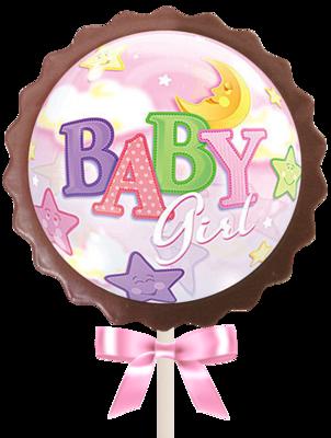 Large Flower Lollipop - It's a Girl