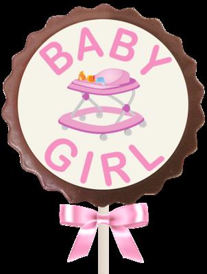 Large Flower Lollipop - Baby Girl