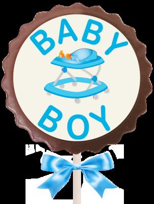 Large Flower Lollipop - Baby Boy