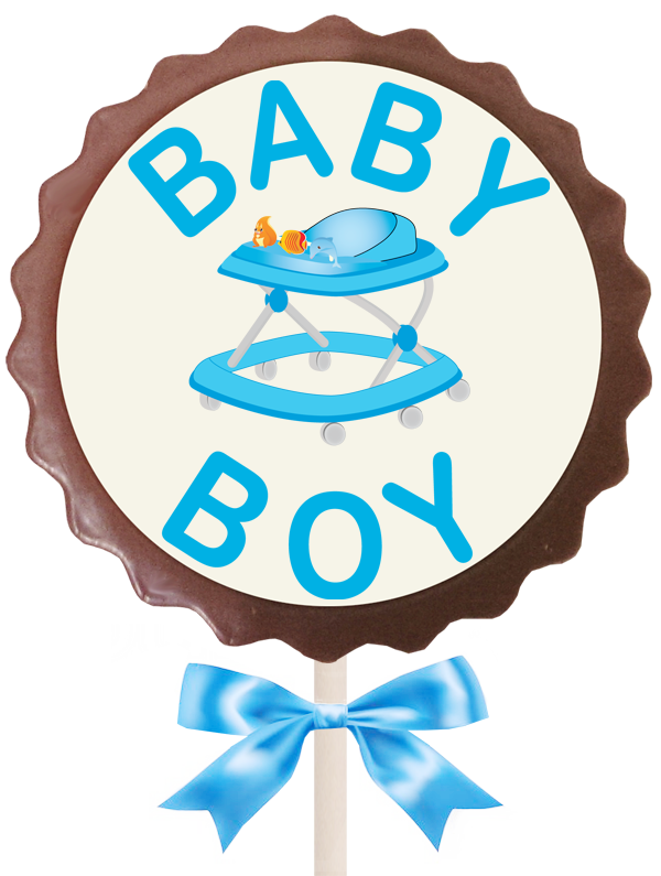 Large Flower Lollipop - Baby Boy