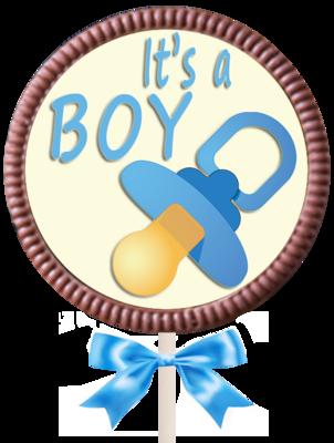 Large Round Lollipop  - It's a Boy