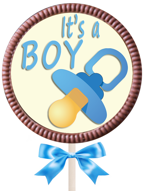 Large Round Lollipop  - It's a Boy