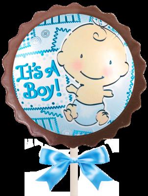 Large Flower Lollipop - It's a Boy