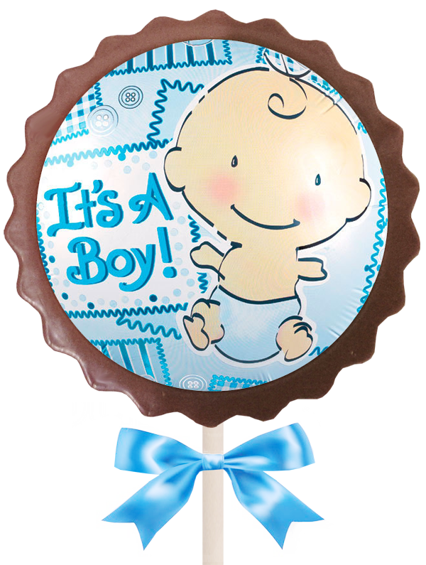 Large Flower Lollipop - It's a Boy