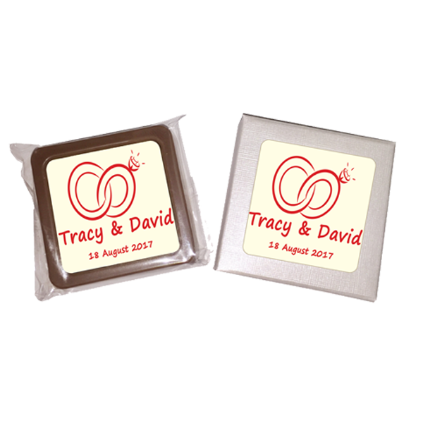 Personalised Printed Wedding Chocolate Favours