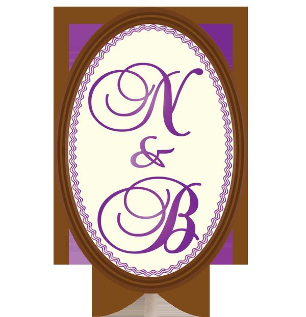 Personalised Printed Wedding Chocolate Lollipop (Oval)