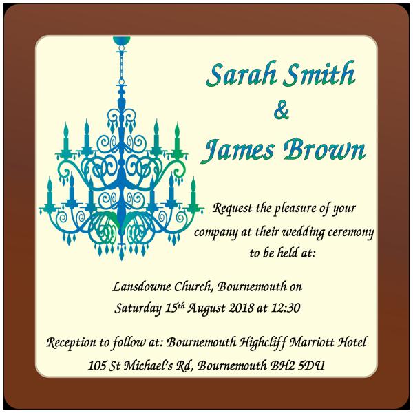 Personalised Printed Wedding Chocolate Square Plaque